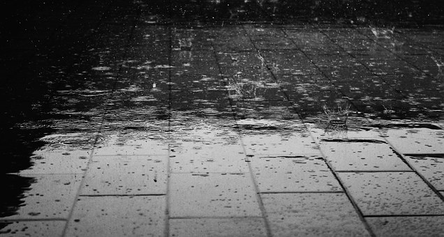 It is raining again this morning and it will be sticking around